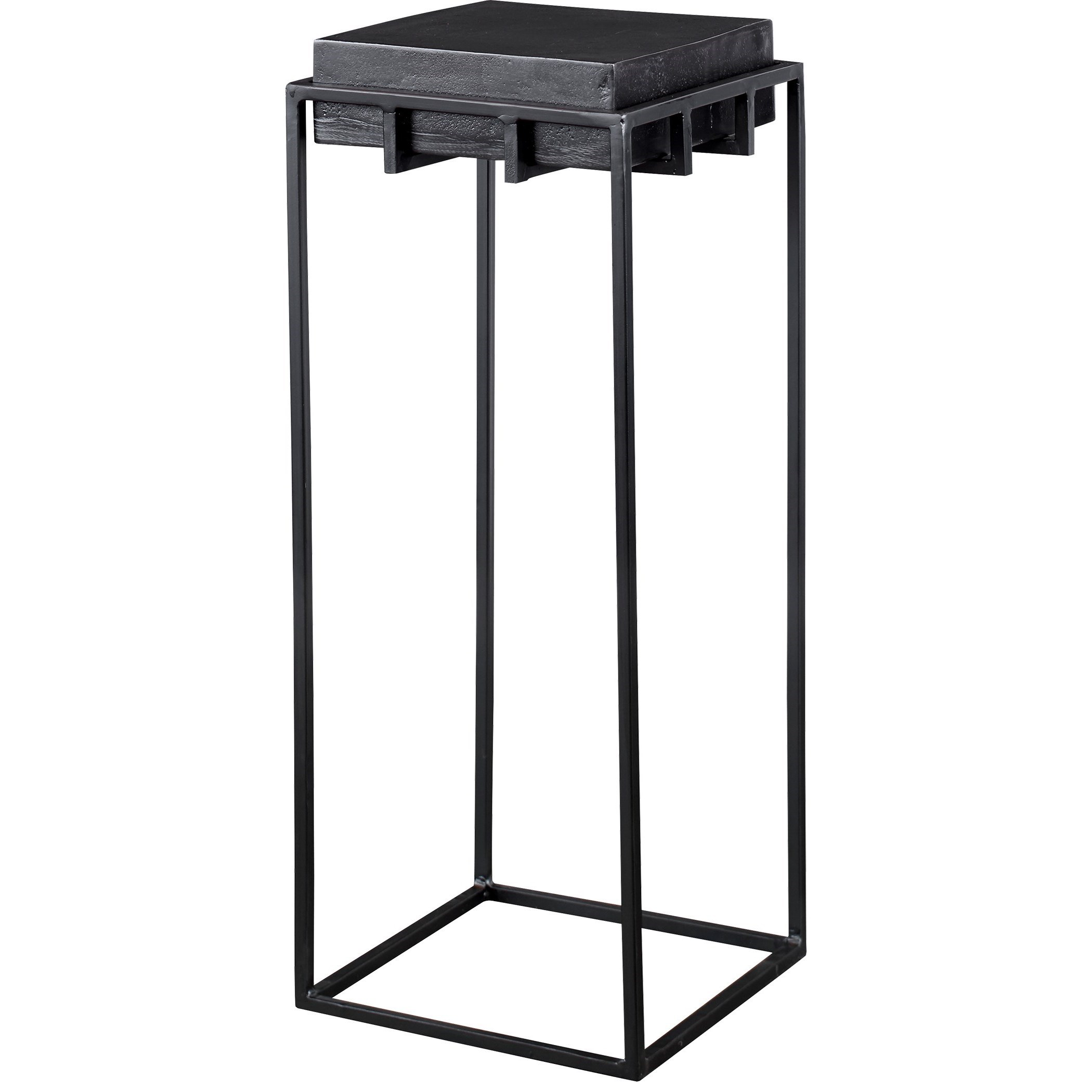 Accent Furniture - Occasional Tables Telone Black Small Pedestal by Uttermost at Mueller Furniture