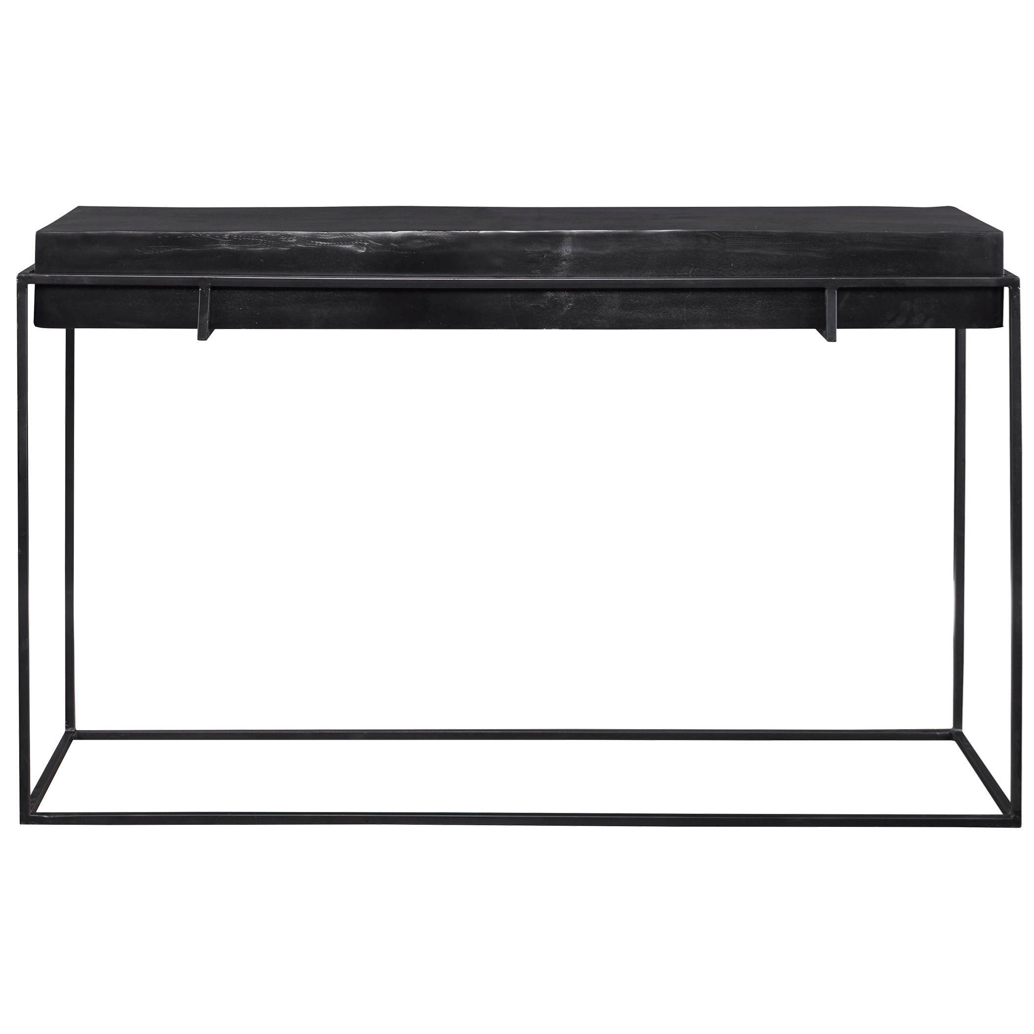 Accent Furniture - Occasional Tables Telone Modern Black Console Table by Uttermost at Jacksonville Furniture Mart