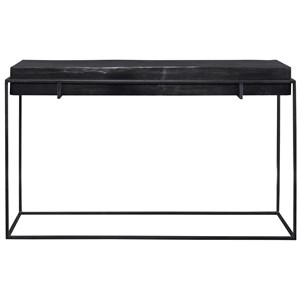 Telone Modern Black Console Table
