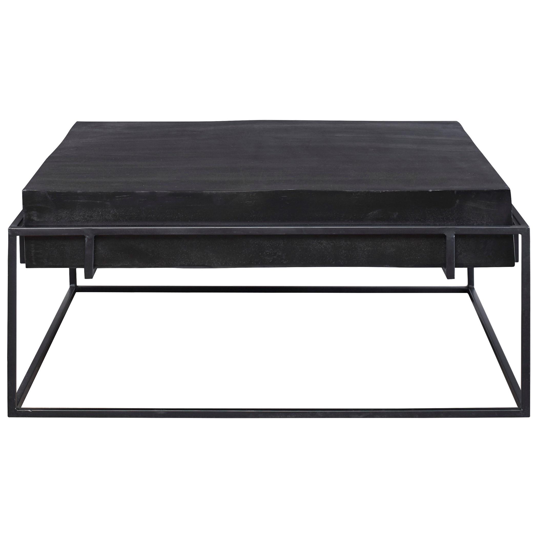 Telone Modern Black Coffee Table