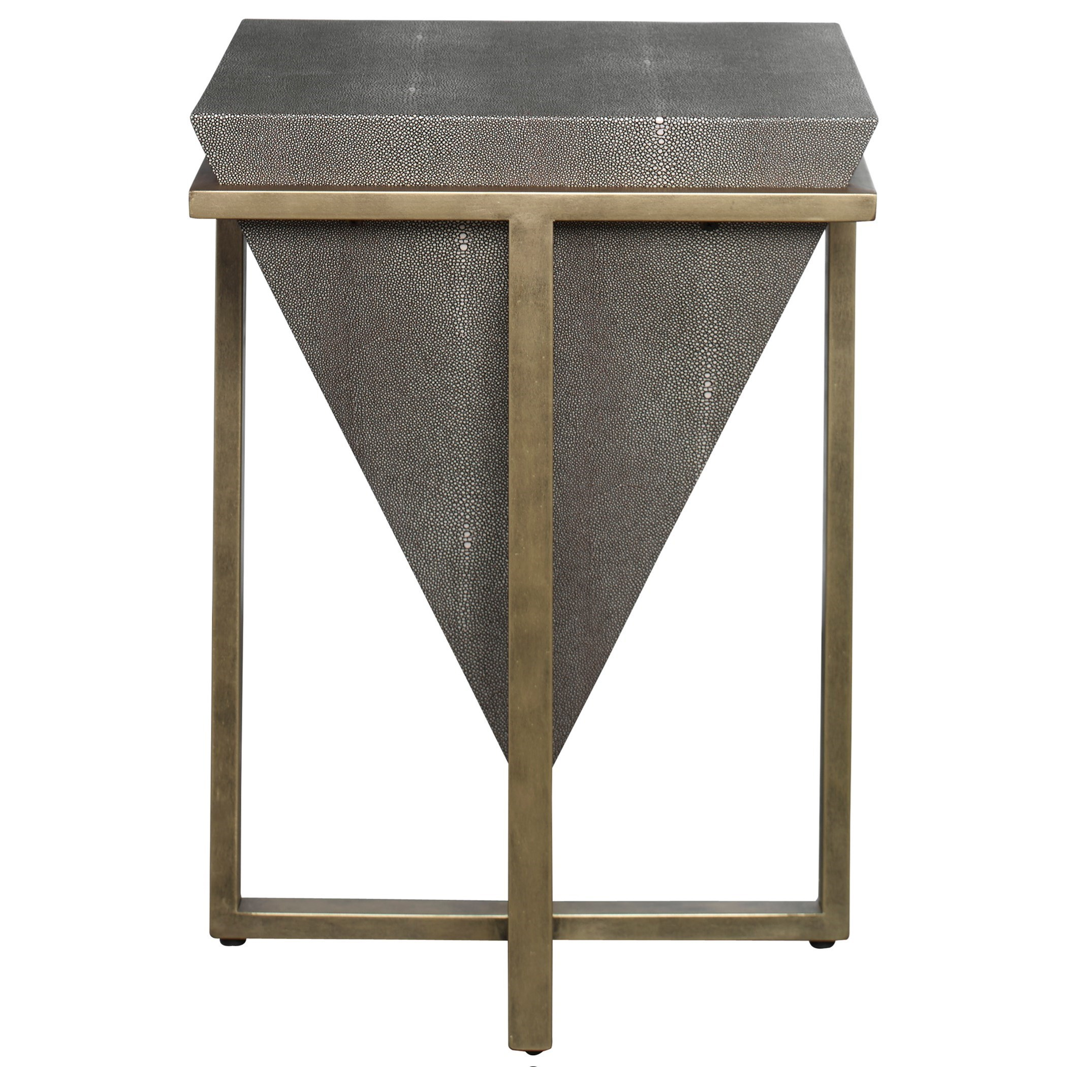 Accent Furniture - Occasional Tables Bertrand Shagreen Accent Table by Uttermost at Mueller Furniture