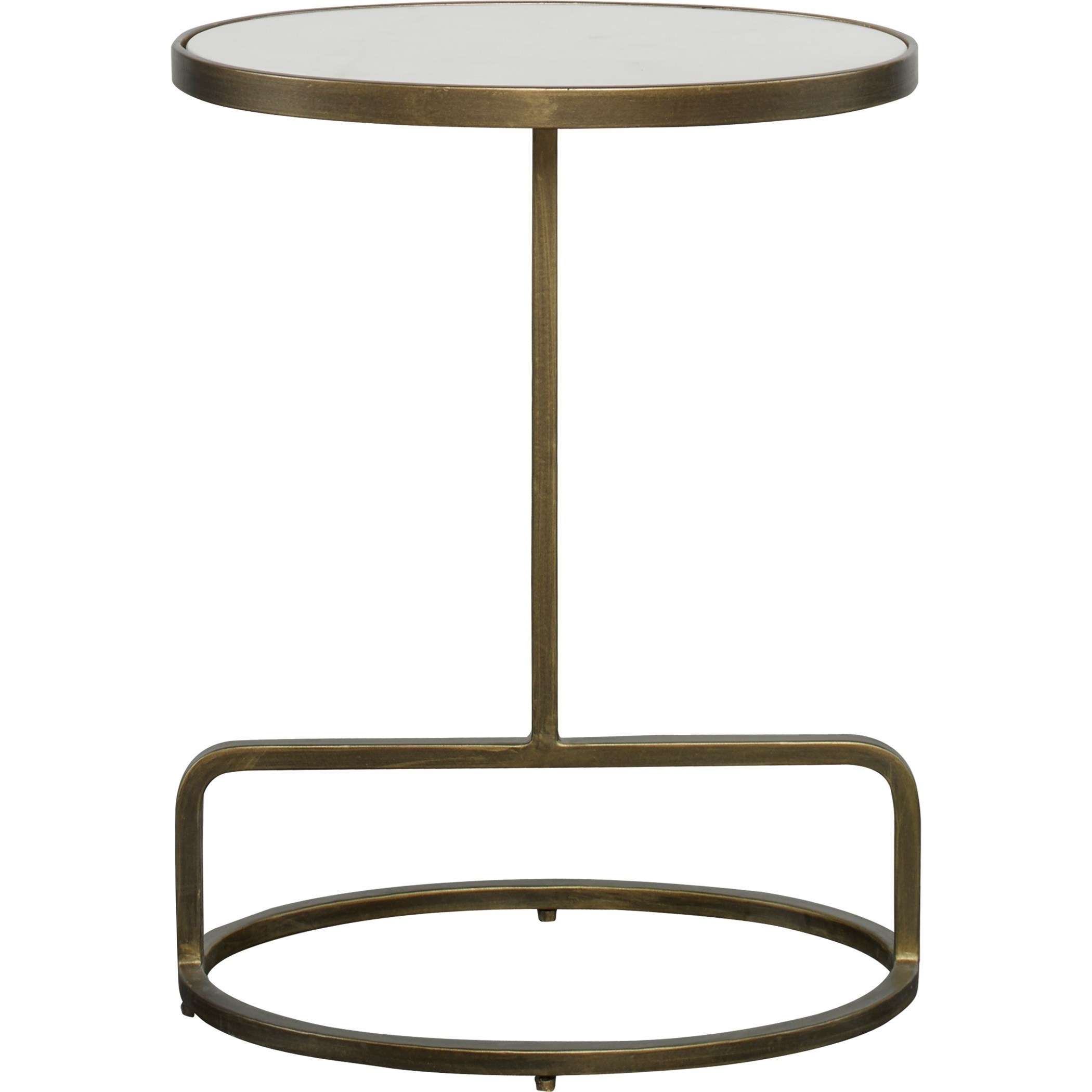 Accent Furniture - Occasional Tables Jessenia White Marble Accent Table by Uttermost at Mueller Furniture