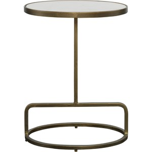 Jessenia White Marble Accent Table
