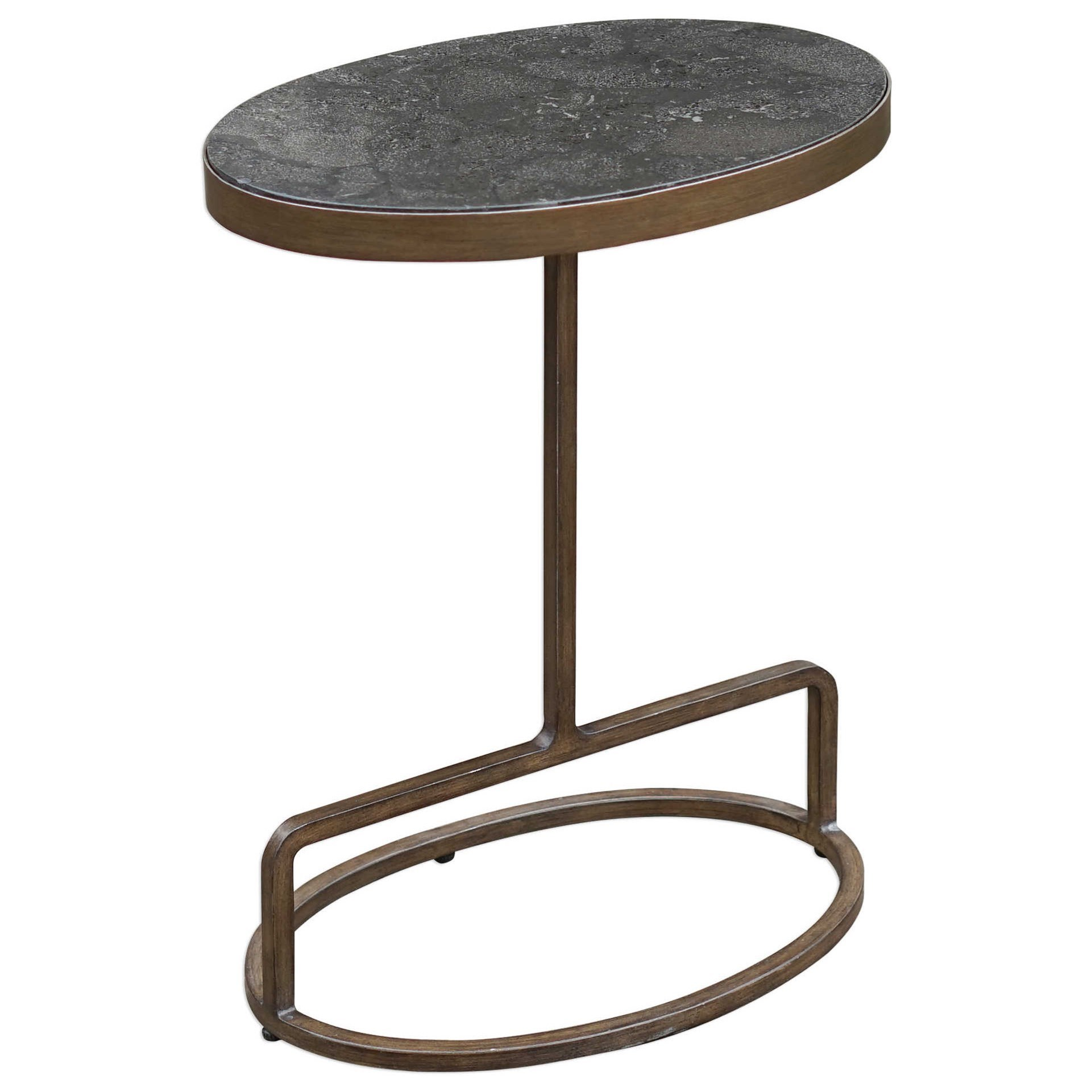 Accent Furniture - Occasional Tables Jessenia Stone Accent Table by Uttermost at Upper Room Home Furnishings
