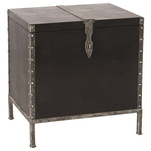 Shawn Industrial Accent Table