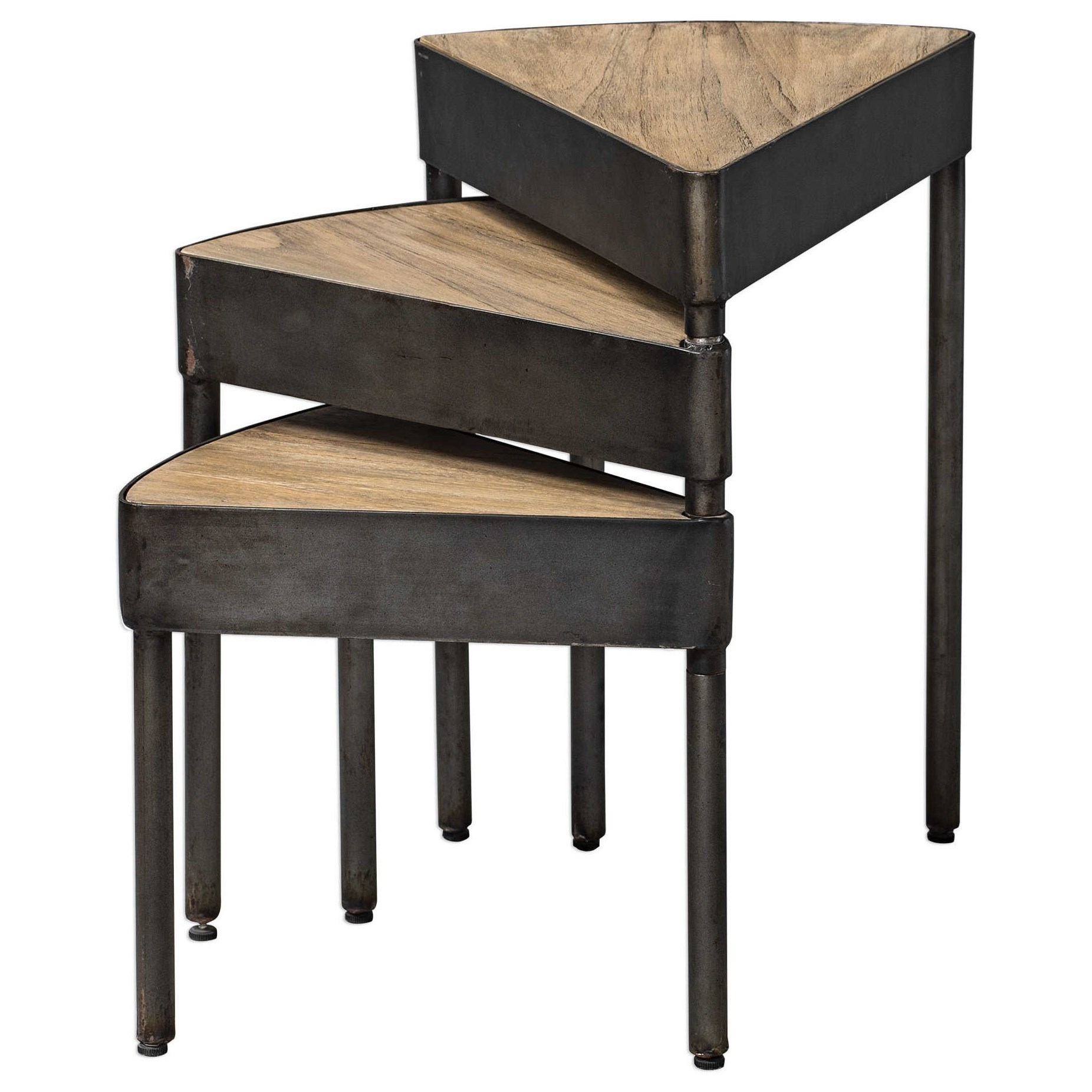 Accent Furniture - Occasional Tables Akito Nesting Table by Uttermost at Esprit Decor Home Furnishings