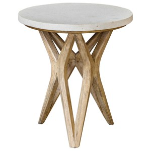 Marnie Limestone Accent Table