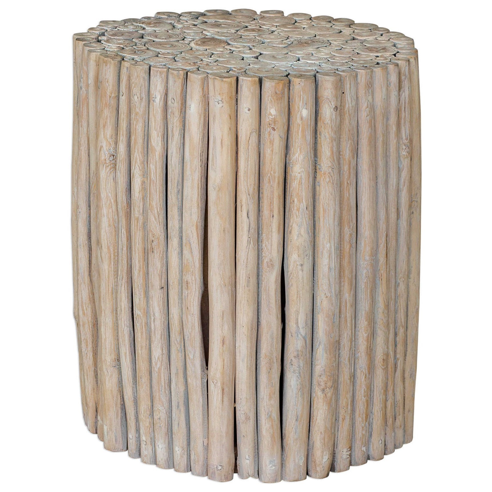 Accent Furniture - Occasional Tables Tectona Teak End Table by Uttermost at Mueller Furniture