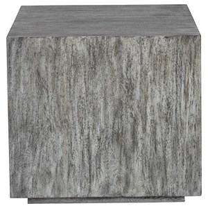 Kareem Modern Gray Side Table