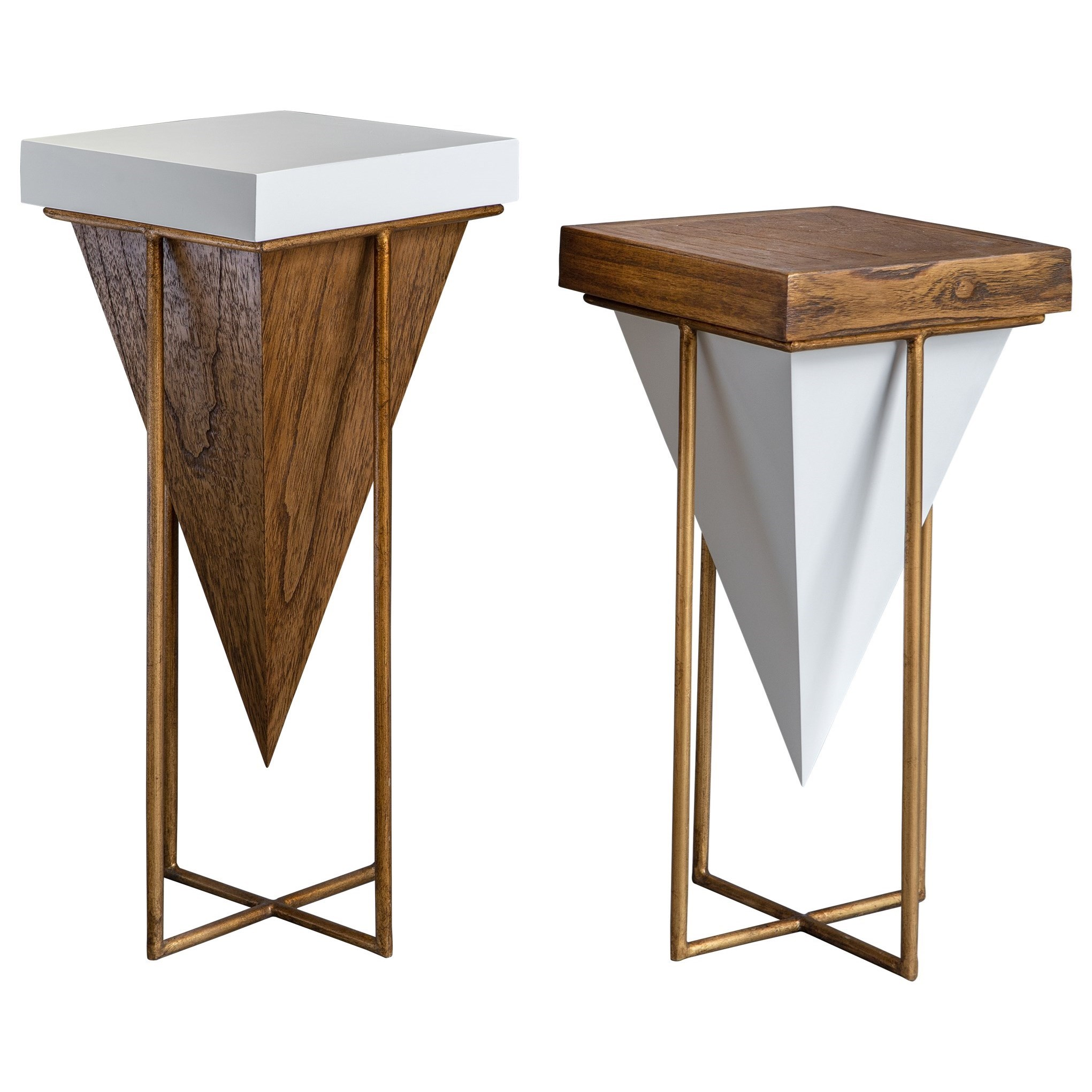 Accent Furniture - Occasional Tables Kanos Accent Tables S/2 by Uttermost at Del Sol Furniture