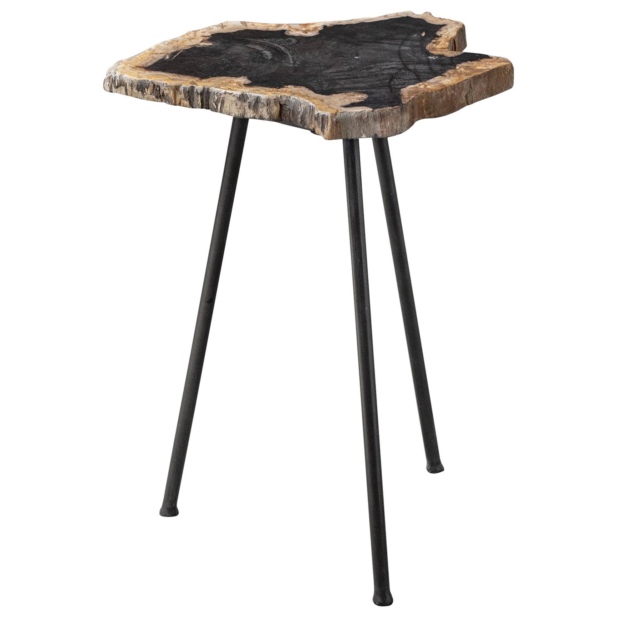 Accent Furniture - Occasional Tables Mircea Petrified Wood Accent Table by Uttermost at Reid's Furniture