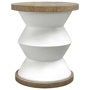 Spool Geometric Side Table