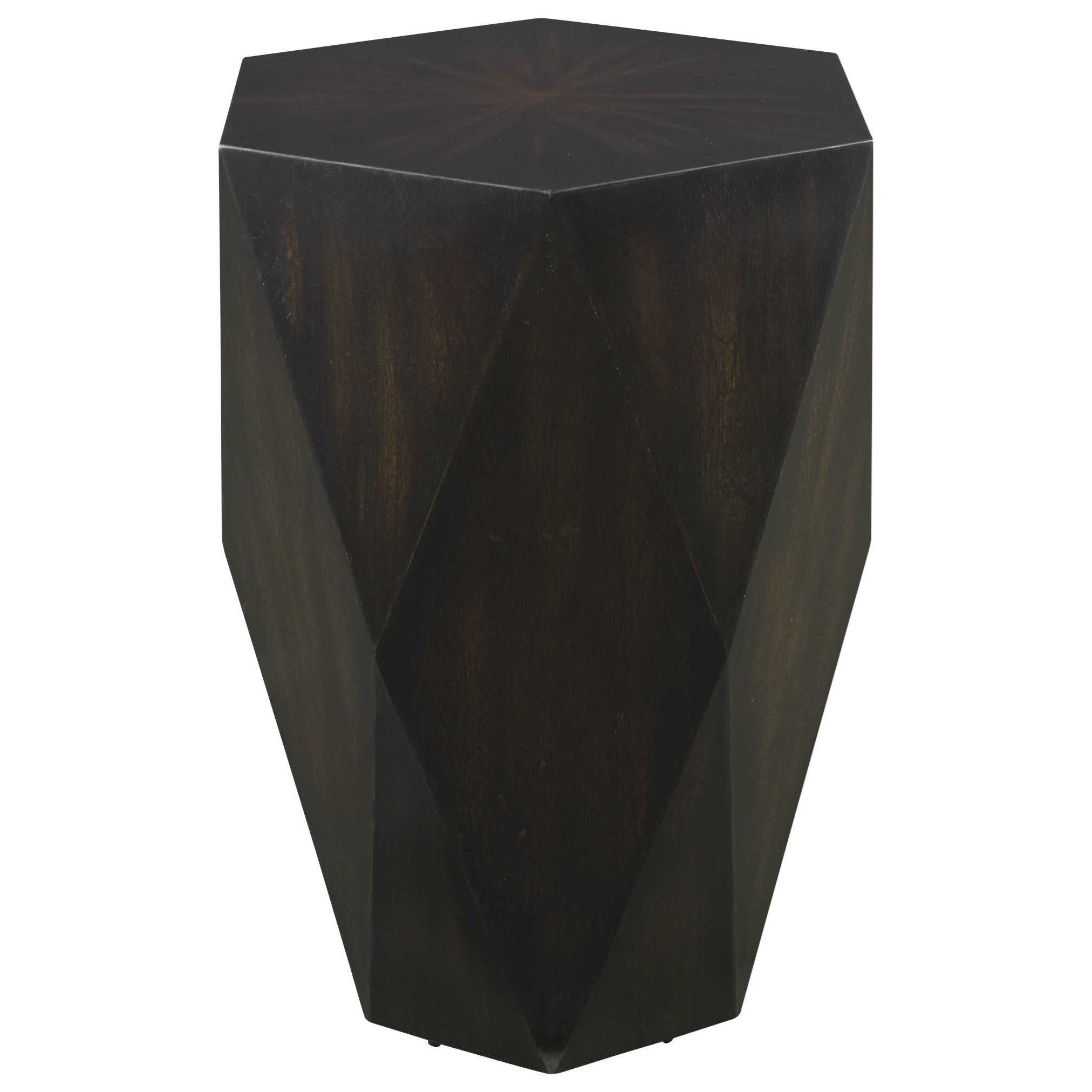 Accent Furniture - Occasional Tables Volker Black Wooden Side Table by Uttermost at Upper Room Home Furnishings