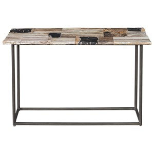Iya Petrified Wood Console Table