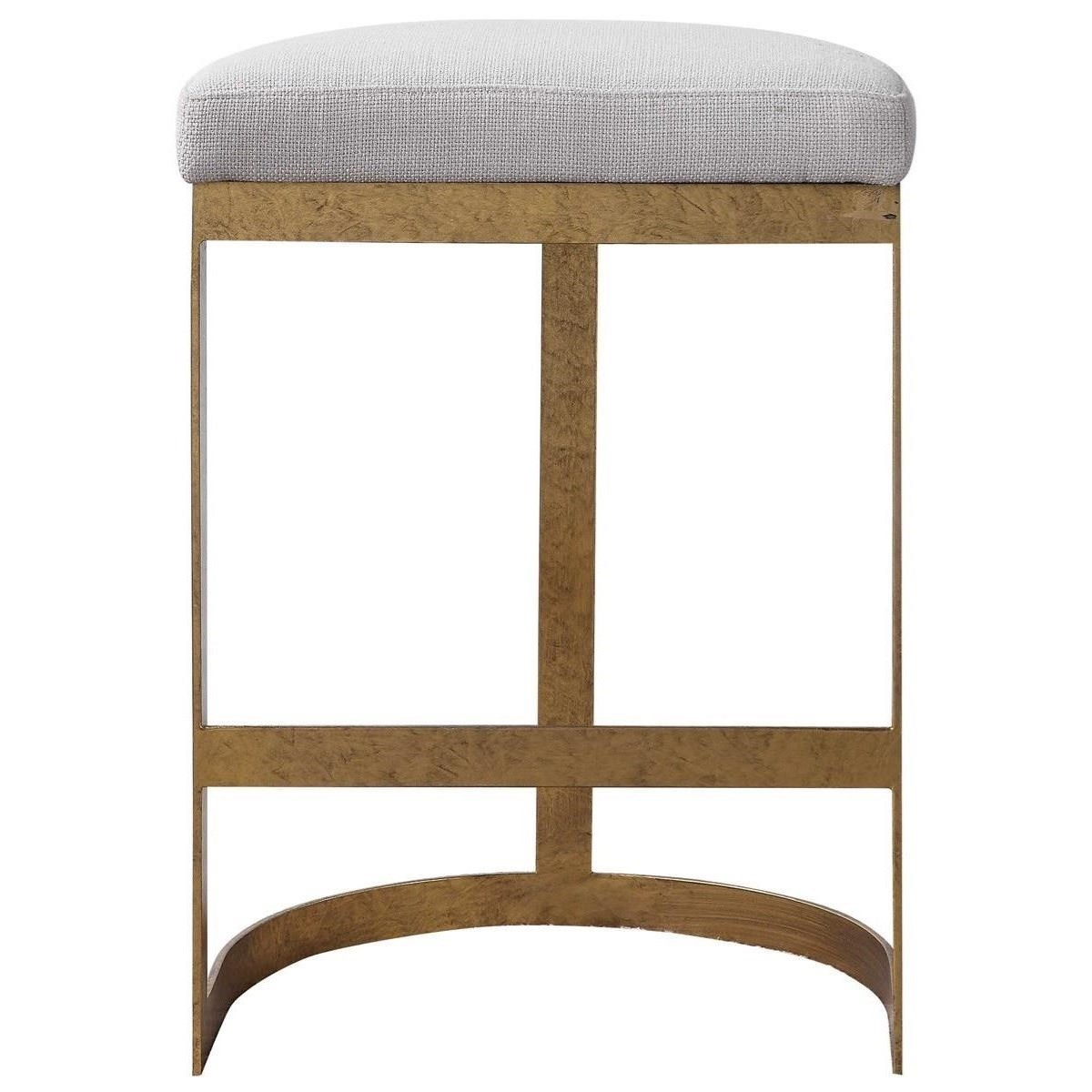 Accent Furniture - Stools Ivanna Modern Counter Stool by Uttermost at Del Sol Furniture