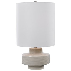 Orwell Light Gray Accent Lamp