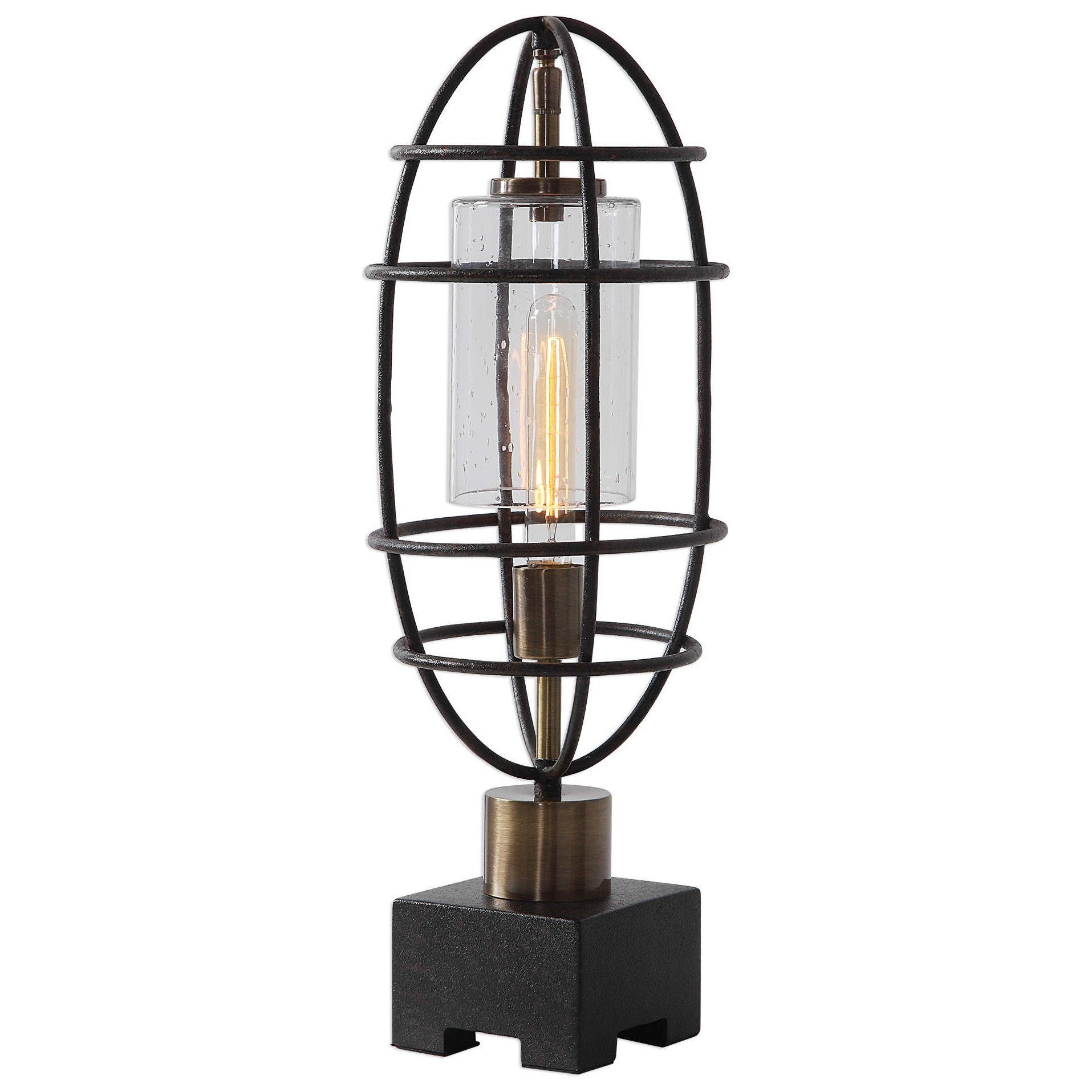 Accent Lamps Industrial Accent Lamp by Uttermost at Del Sol Furniture