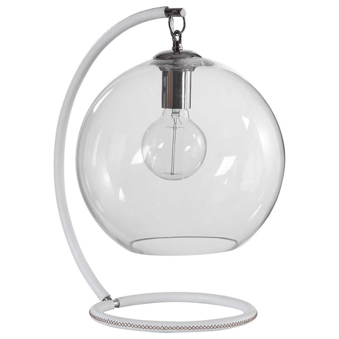 Accent Lamps Eissa White Accent Lamp by Uttermost at O'Dunk & O'Bright Furniture