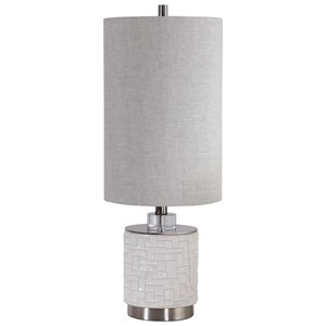 Elyn Glossy White Accent Lamp