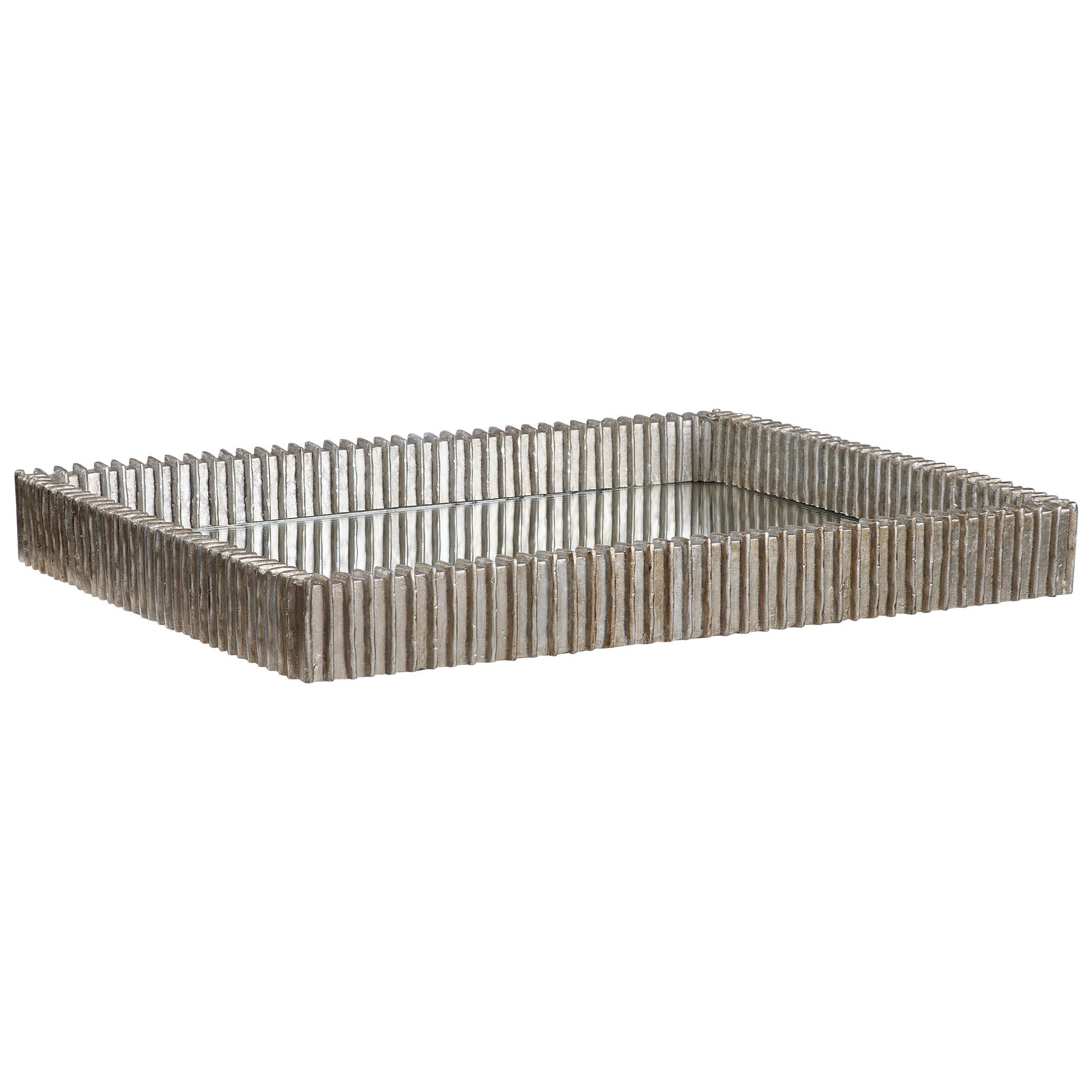 Accessories Talmage Silver Mirrored Tray by Uttermost at Mueller Furniture