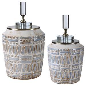 Lenape Ceramic Bottles, S/2