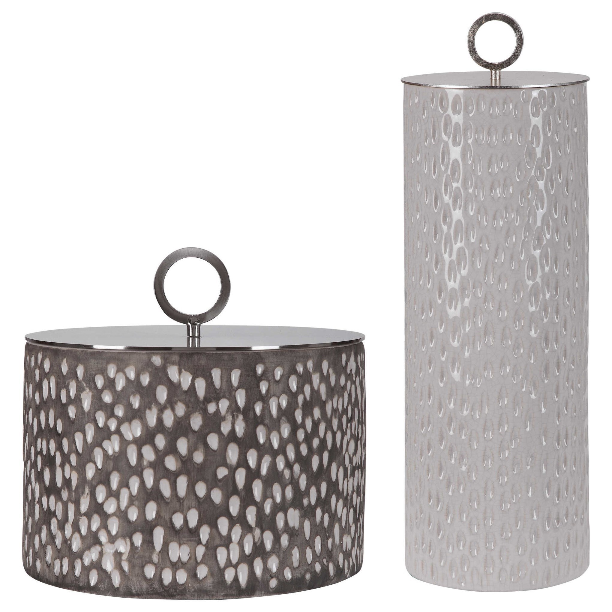 Accessories Cyprien Ceramic Containers, S/2 by Uttermost at Mueller Furniture