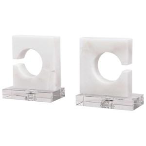 White & Gray Bookends, S/2
