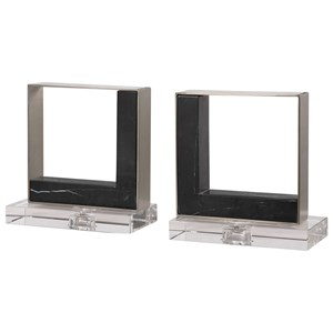 Modern Marble Bookends, S/2
