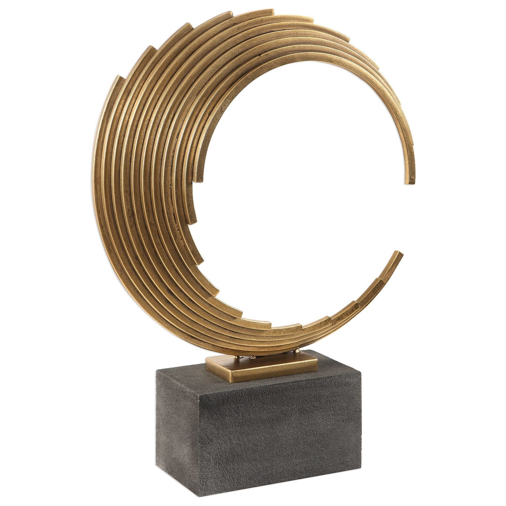 Saanvi Curved Gold Rods Sculpture