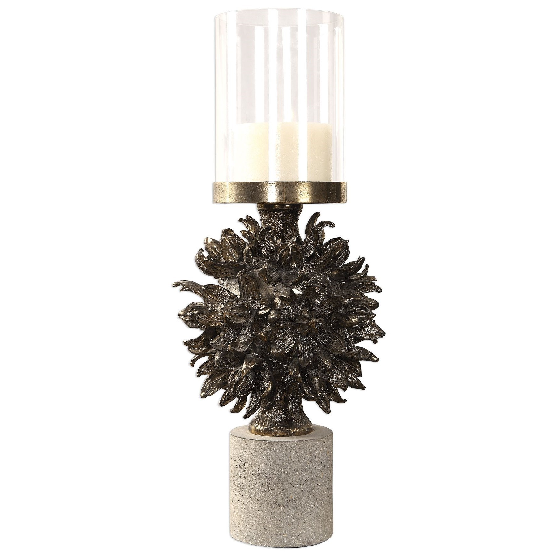 Accessories - Candle Holders Autograph Tree Antique Bronze Cand by Uttermost at Mueller Furniture
