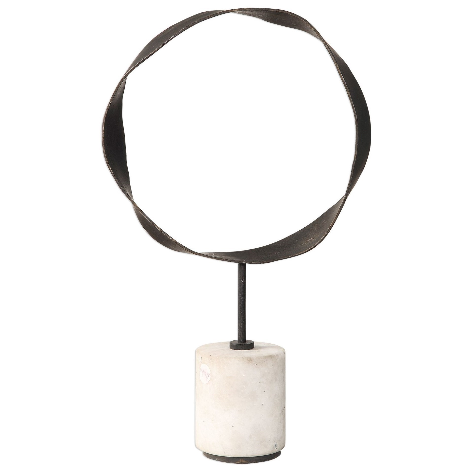 Accessories - Statues and Figurines Rilynn Metal Ring Sculpture by Uttermost at Mueller Furniture