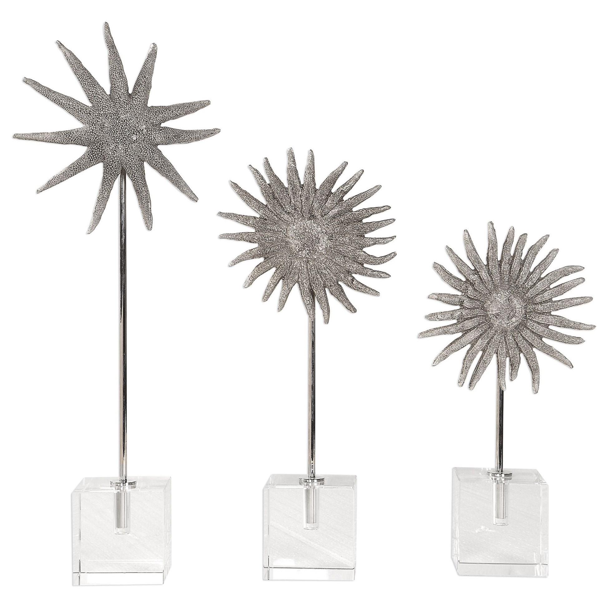 Sunflower Starfish Sculptures, S/3