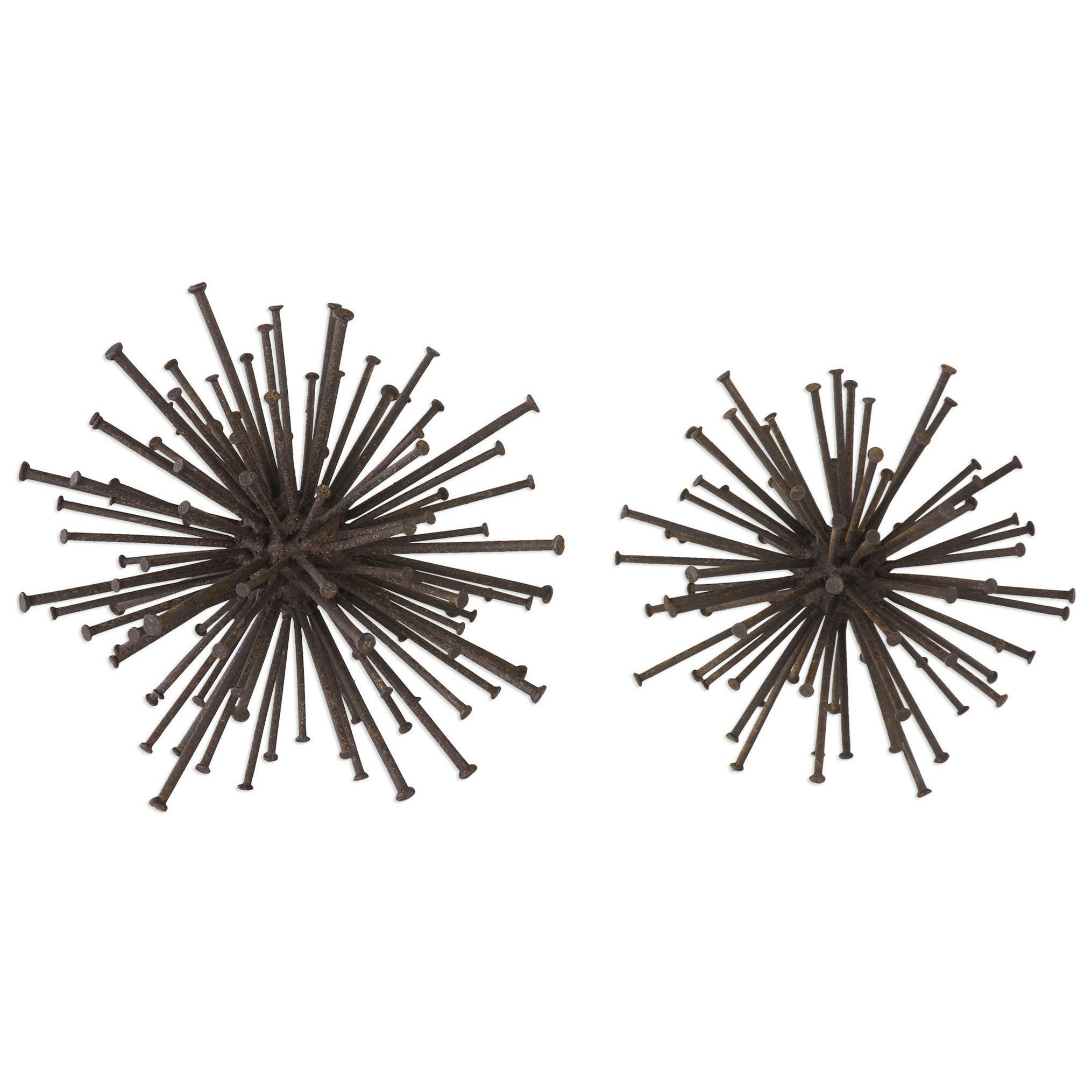 Accessories Aric Nail Spheres (Set of 2) by Uttermost at Dunk & Bright Furniture