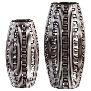 Aura Weave Pattern Vases (Set of 2)