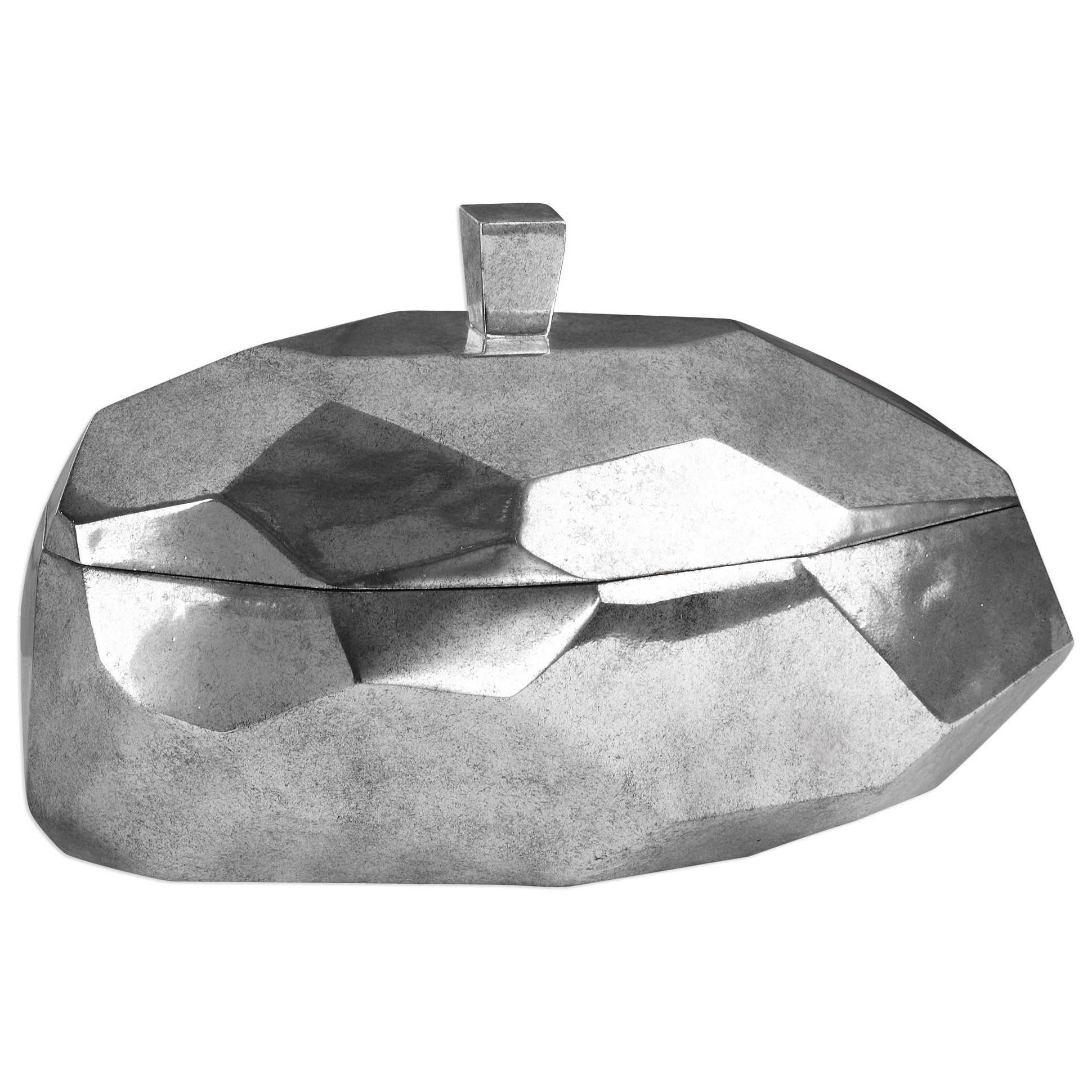 Accessories - Boxes Minta Silver Box by Uttermost at Mueller Furniture