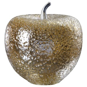 Golden Apple Sculpture