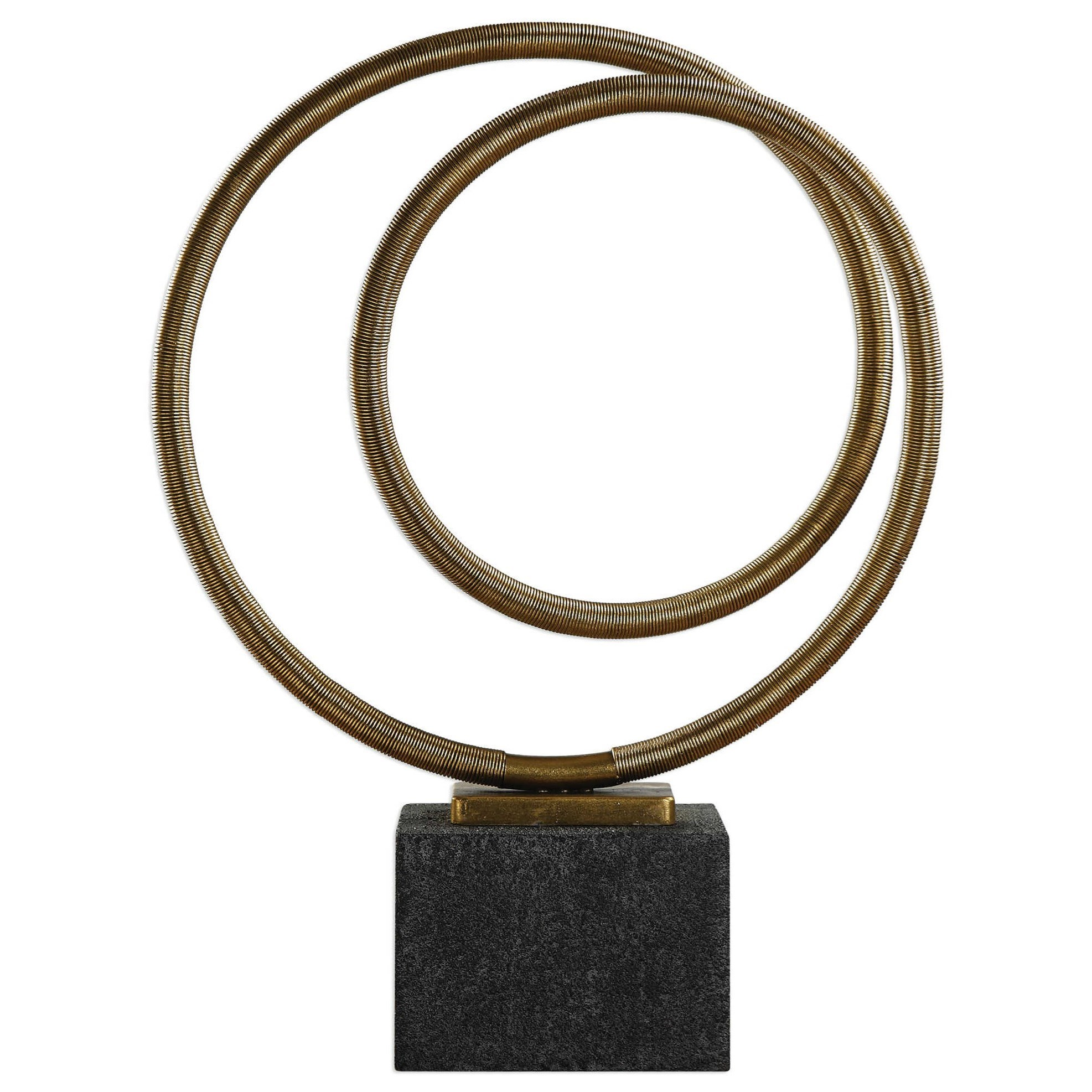Accessories - Statues and Figurines Oja Gold Sculpture by Uttermost at Mueller Furniture