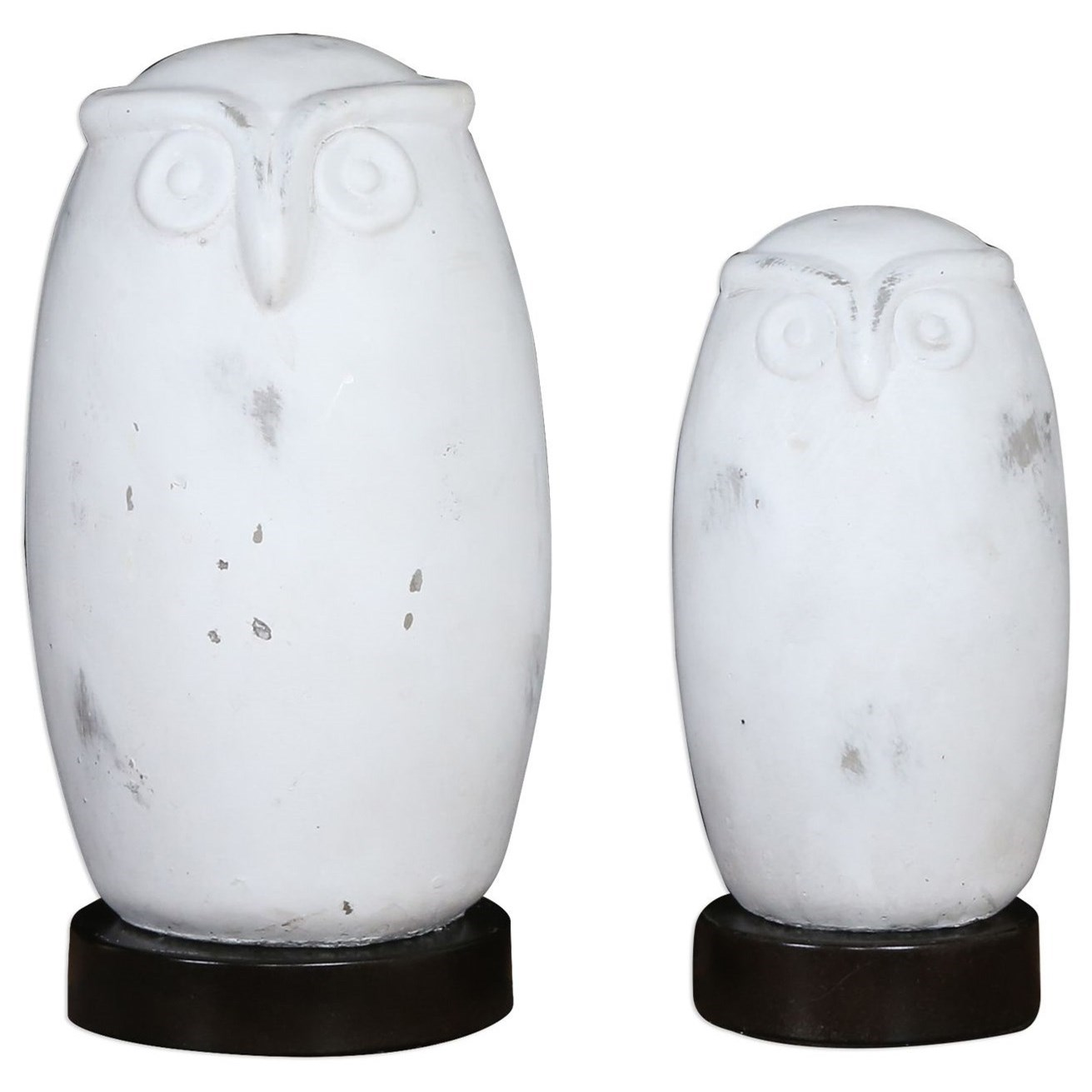 Accessories - Statues and Figurines Hoot Owl Figurines Set of 2 by Uttermost at Mueller Furniture