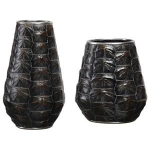 Kapil Tortoise Shell Vases Set of 2