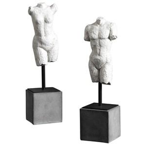 Valini Torso Sculptures Set of 2