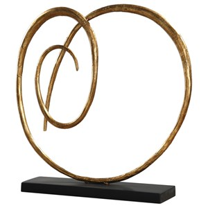 Oma Twisted Gold Sculpture