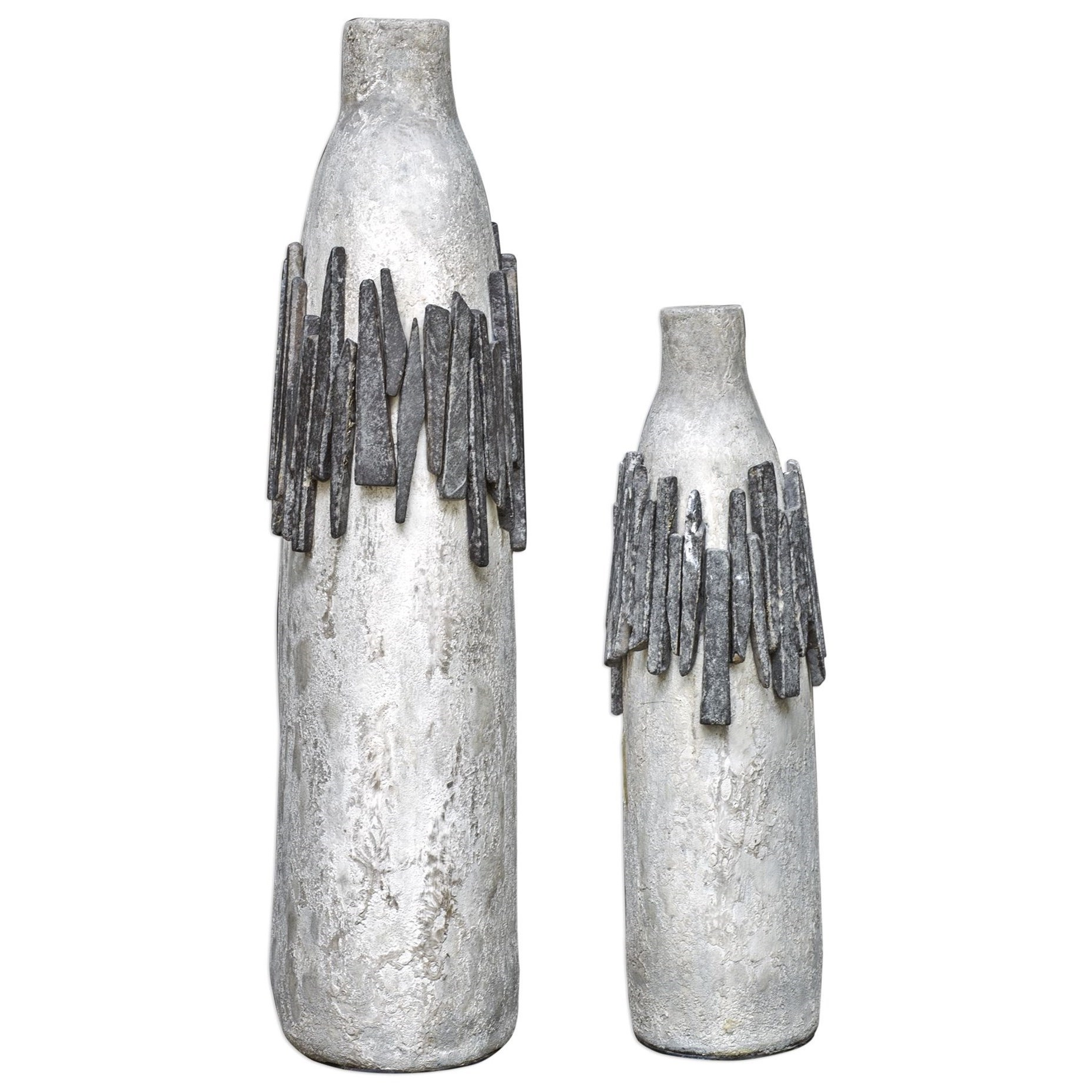 Accessories - Vases and Urns Rutva Aged Ivory Vases, S/2 by Uttermost at Mueller Furniture