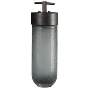 Virika Etched Gray Glass Jar