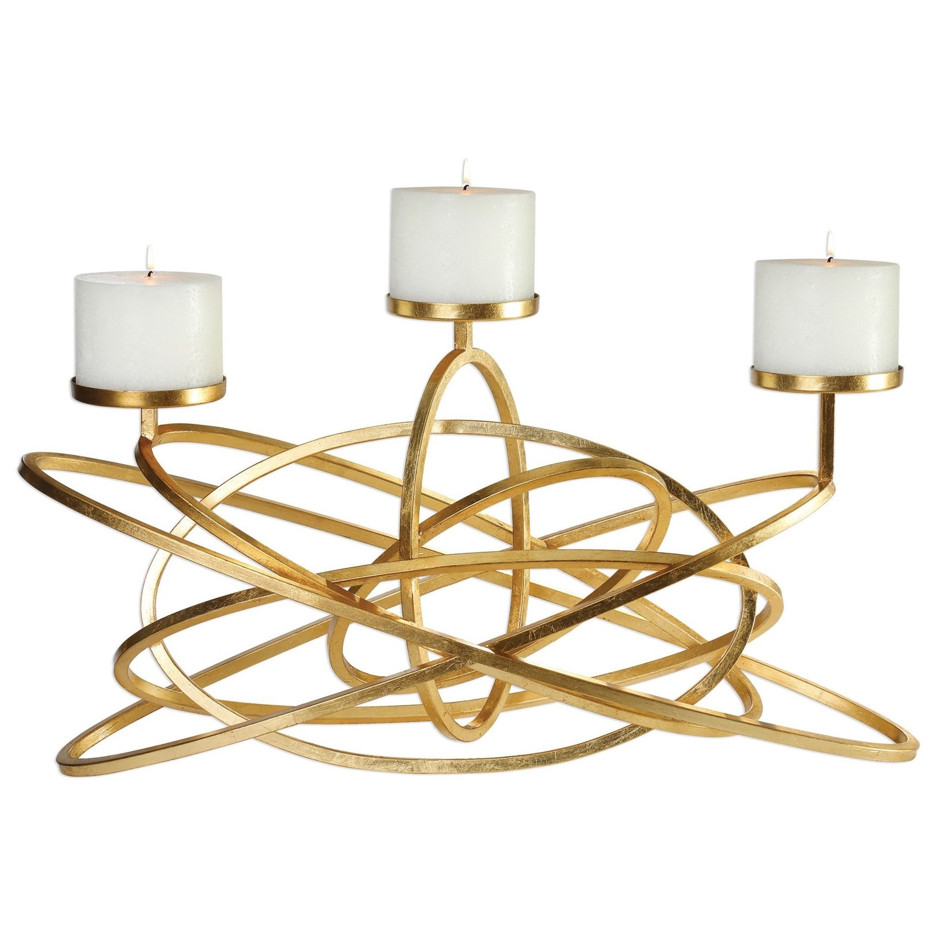 Accessories - Candle Holders Mishka Gold Candelabra by Uttermost at Mueller Furniture