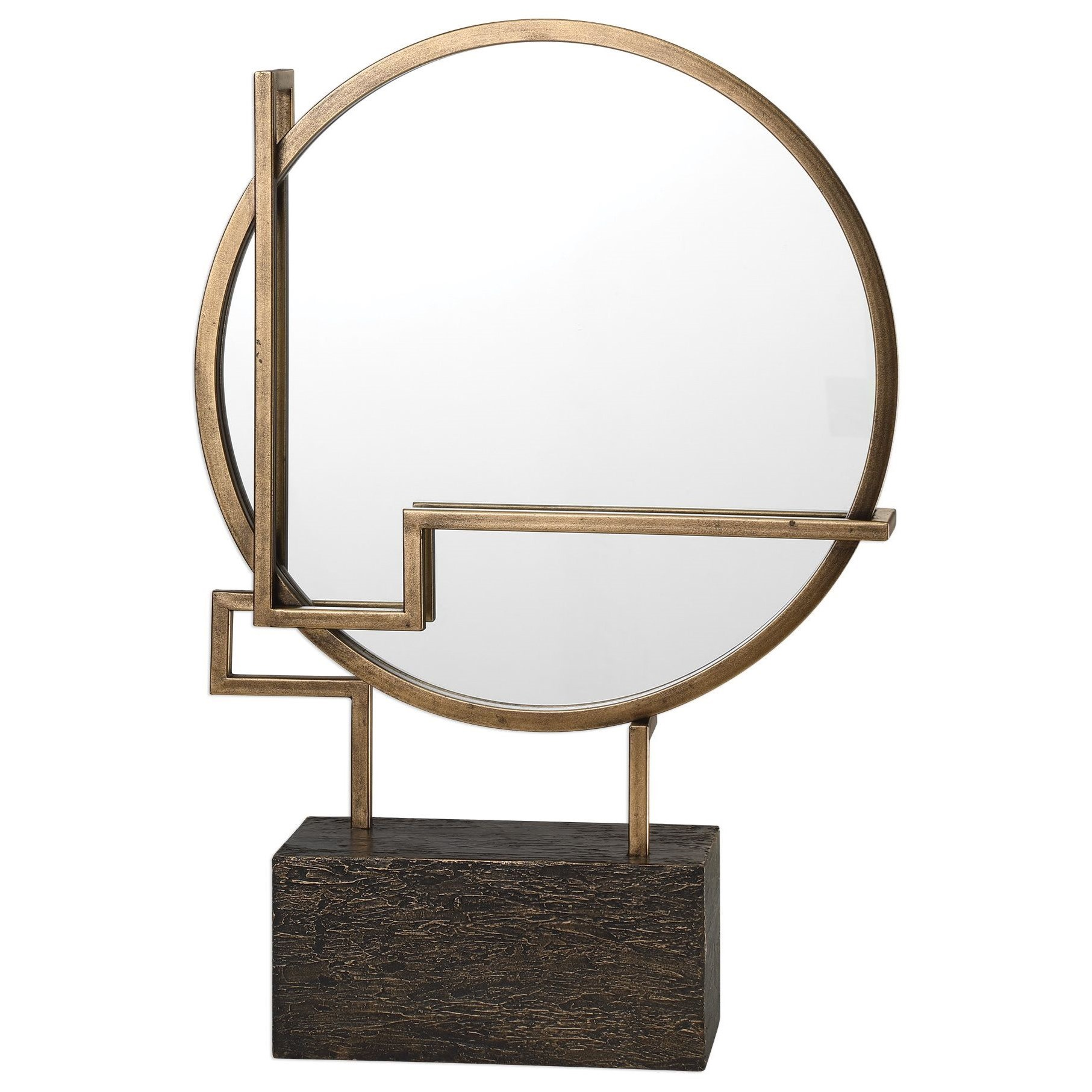 Accessories - Statues and Figurines Della Table Mirror by Uttermost at Miller Home