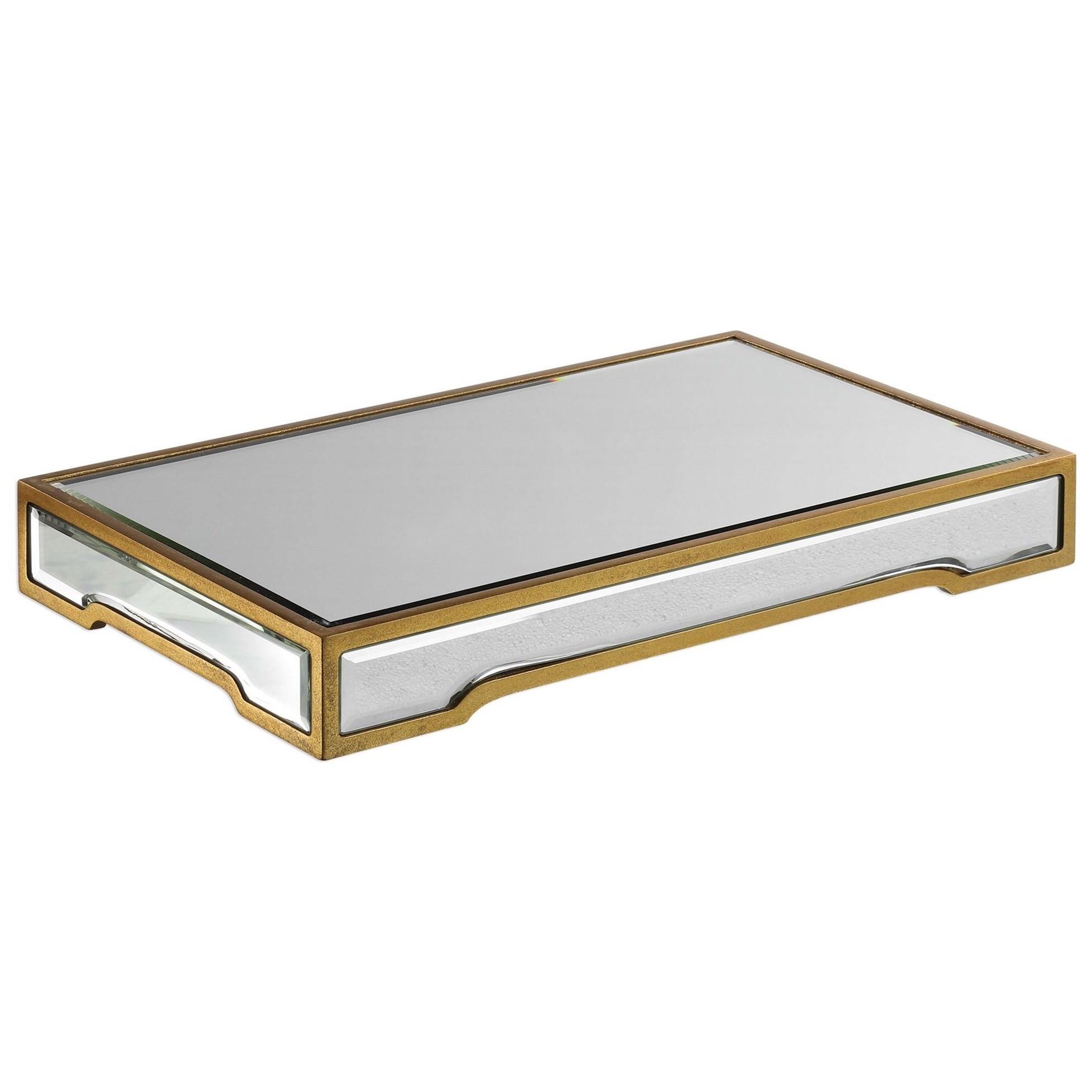 Accessories Carly Mirrored Tray by Uttermost at Dunk & Bright Furniture
