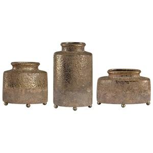Kallie Metallic Golden Vessels S/3