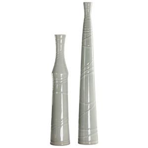 Raylee Pale Green Vases, S/2