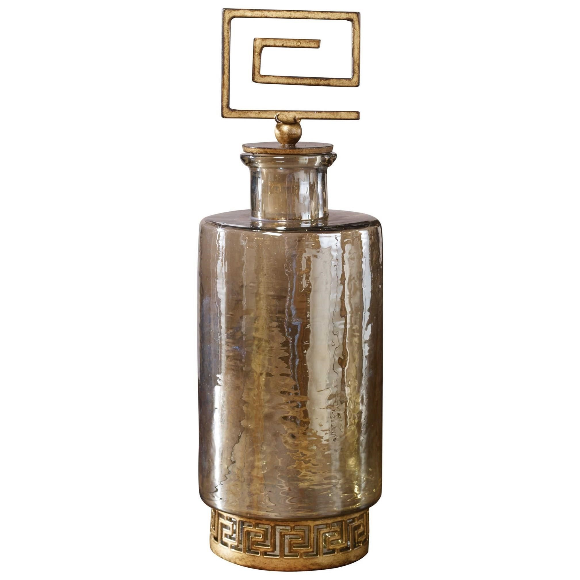 Accessories Neev Luster Glass Decanter by Uttermost at Upper Room Home Furnishings