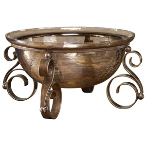 Alya Bronze Glass Bowl